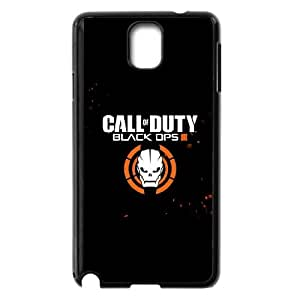 Extremely Fit Clear Hard Back ,Duty Black Ops 3 Logo Anti-Scratch Crystal Clear Case Bumper,TPU Phone case for SamSung Galaxy Note3,black
