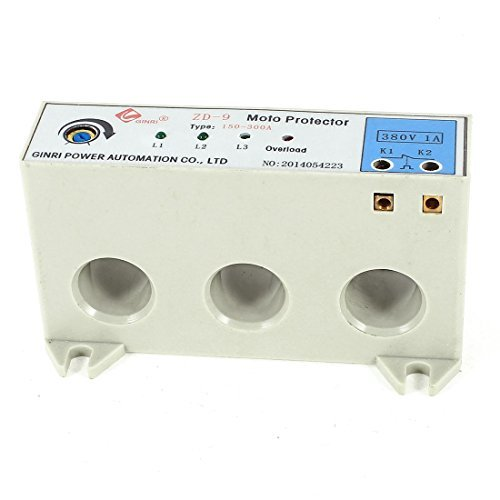 DealMux ZD-9 3 Phase 150-300 Ampere Adjustable Current Motor Circuit Protector