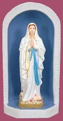 Grotto For 24 inch Statues - Vinyl, Granite Finish Shell, Blue inside