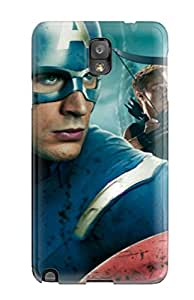 Hot 7837120K29778424 New Style Hard Case Cover For Galaxy Note 3- Captain America In Avengers Movie