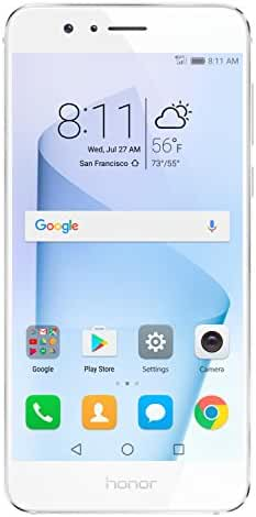 Huawei Honor 8 Unlocked Smartphone 32 GB Dual Camera - US Warranty (Pearl White)