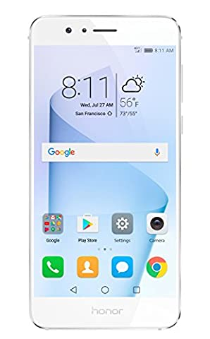 Huawei Honor 8 Unlocked Smartphone 64 GB Dual Camera - US Warranty (Pearl White) (Iphone 5 C White Unlocked)