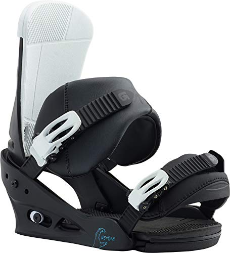 Burton Custom Snowboard Bindings Black/Multi Sz L (10+) - Mens Snowboard Binding
