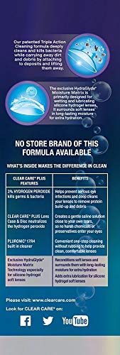 41hUFt4%2BFSL - Clear Care Plus Cleaning and Disinfecting Solution with Lens Case, Twin Pack, 12-Ounces Each