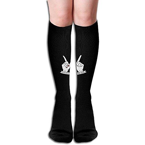Diy Whatever Forever BlackRed Knee High Socks Performance Stockings For Men And Women,19.6inch