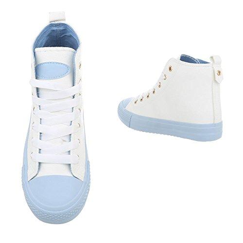 Ital Blu Sneaker Bl102 Da Bianco High Sneakers Donna Piatto Scarpe design rqwnI7xzrP