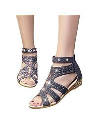 38097da99c50aa Women Sandals Bling Rhinestone Flats Sandals Fashion Wedding Dress Flip  Flops Shoes White