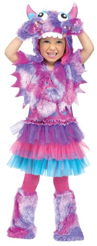 Fun World Costumes Baby Girl's Polka Dot Monster Toddler Costume, Pink/Blue, Large