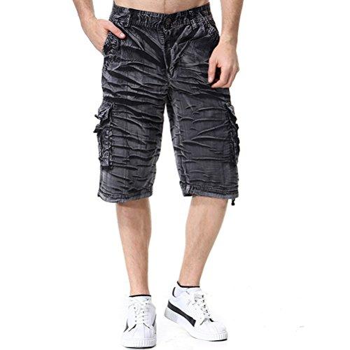 正午超えてのスコアAOWOFS  カーゴ パンツ メンズ 半ズボン 多いポケット 短パン 五分丈 迷彩 ゆったり ショートパンツ 綿   夏 大きいサイズ
