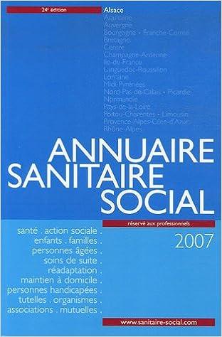 En ligne téléchargement Annuaire sanitaire social 2007 : Alsace epub pdf