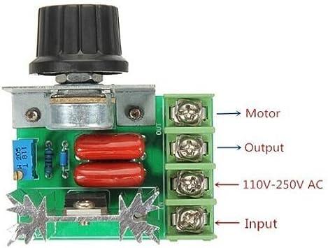 2000W AC 50-220V 25A Adjustable Motor Speed Controller Voltage Regulator Jn