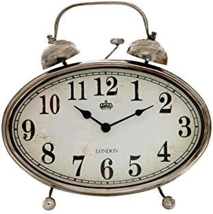 Sukima Decor Vintage Reloj Sobremesa, Metal, Plateado, 28x8x29 cm ...