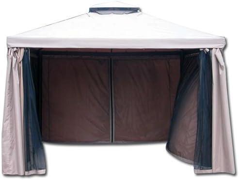 HOMEGARDEN, Juego de 4 Telas mosquiteras para quiosco, Modelo Sahara: Amazon.es: Hogar