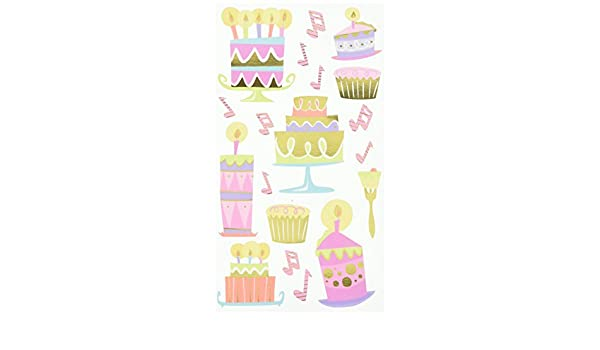CATHY B VELLUM BIRTHDAY CAKES STICKERS FOR CARDS AND CRAFTS