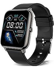 KALINCO Smartwatch, 1,4 tums pekskärm med personlig skärm, armbandsur med blodtrycksmätning, puls, sömnmonitor, sportklocka IP67 vattentät stegräknare för kvinnor och män
