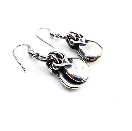 Castanets earrings, Flamenco earrings, castanets dangle earrings, cool earrings, Boho, Spanish, Silver earrings, Music, flamenco, girl, gift for her, flamenca