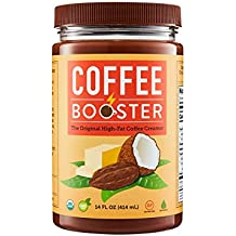 Coffee Booster - Top Quality Blend of Grass-fed Ghee, Coconut Oil, and Cacao, 14 oz
