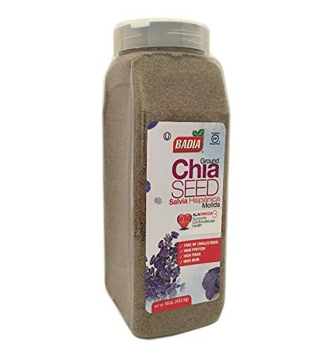 16 oz-Ground Chia Seed Powder Fiber/Salvia en Polvo Molida Gluten Free Kosher