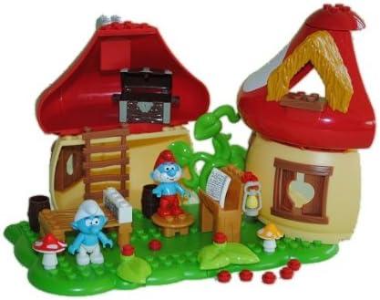 Alles Meine De Gmbh 49 Tlg Set Mega Bloks Papa Schlumpfe Mit Haus Und Zubehor Die Schlumpf 10709 Amazon De Spielzeug