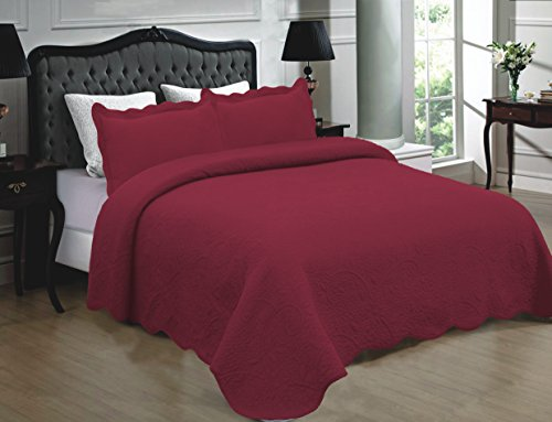 red quilted coverlet - 6