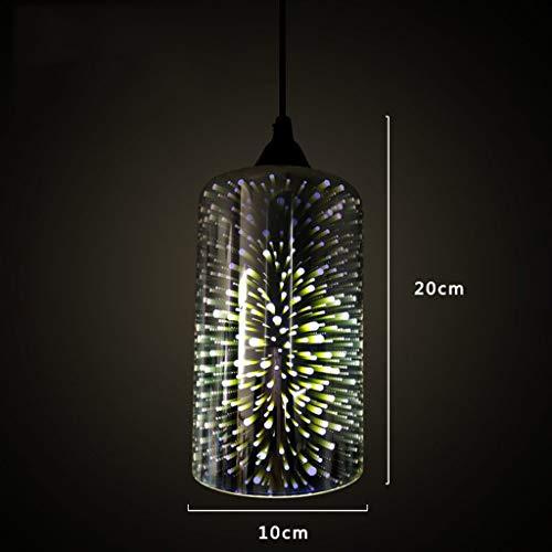 deng Chandelier - Chandelier 3D Glass Chandelier Art Lights Creative Personality Retro Restaurant Living Room Bedroom Bar ()