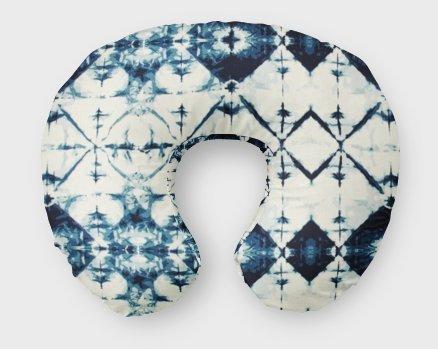 AllTot Nursing Pillow Cover in Indigo Crystal