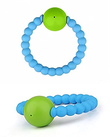 Teether Rings - Hand Bell Infant Rattles Toys ,Soft and Chewable Bracelet For Baby to Soothing Pain (My Amazon Order So Far)