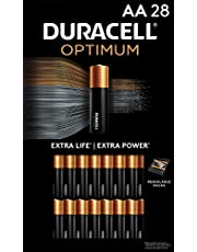 Duracell Optimum AA Batteries | 28 Count Pack | Lasting Power Double A Battery | Alkaline AA Battery Ideal for Household and Office Devices | Resealable Package for Storage