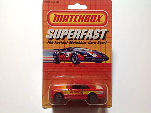 Matchbox 1985 Red Amg Mercedes Superfast the Fastest Matchbox Cars Ever!