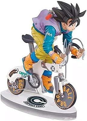 Estatua de Juguete Dragon Ball Anime Modelo, los Modelos Rey Mono Estatua Andar en Bicicleta, Escritorio Decoración, 16cm: Amazon.es: Hogar