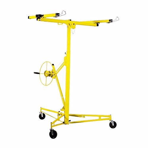 Price comparison product image New pro 11' Drywall Rolling Lifter Panel Hoist Jack Caster Construction Tool yellow