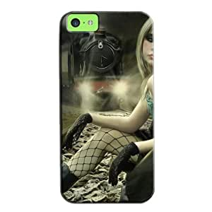 New Style Durable For Iphone 5c Protective Hard Case Black LegzAfS0bf