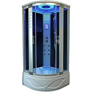 Bath Masters 8004-A Home Bathtub Spa Sauna, Corner Steam Shower Room