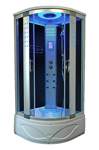 New Bath Masters 8004-A Home Bathtub Spa Sauna, Corner Steam Shower Room