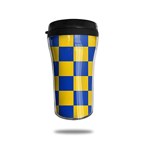 fan products of CUP HOME UK Surrey Blue And Yellow Lattice Adults Children Insulation Heat Insulation Travel Thermos Coffee Mug Small Convenient To Carry