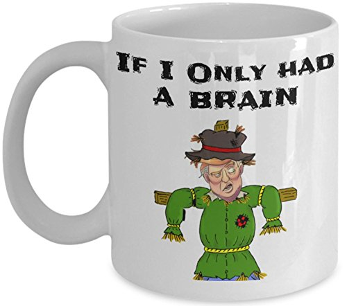 If I Only Had A Brain Political Cool Funny Anti Donald Trump 11OZ Coffee Mug – Ideal Birthday Gag Gift If You Think He Sucks. Impeach Him!