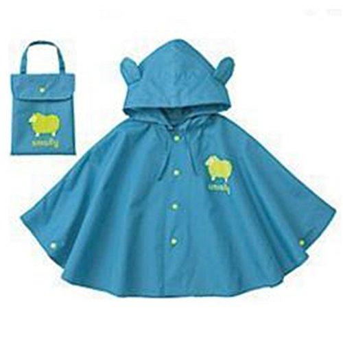 GudeHome Unisex Kid's Hooded Raincoat Children's Waterproof Poncho Rain Cape (80-100cm (Kids Unisex Hooded Jacket)