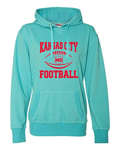 Go All Out X-Large Maui Blue/Silver Womens Kansas City Football Glitter ()