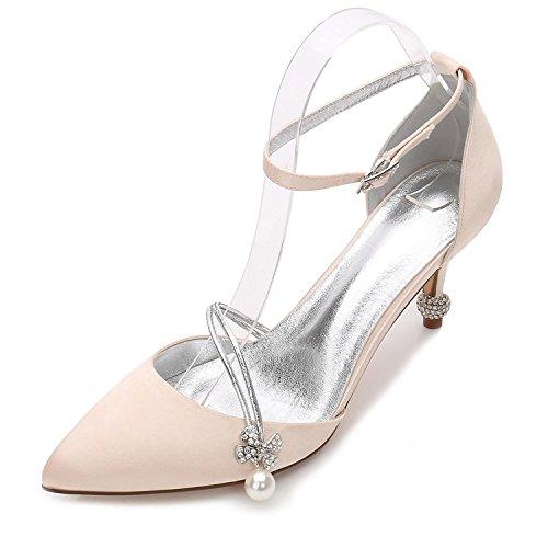D'Été Chaussures Soirée Fermé de Champagne des de 17767 Base Talon YC Party Cône Chaussures Mariage L 29 Femmes de Toe Pompe Wedding amp; xwOz8W1q