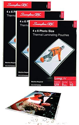 Swingline GBC Laminating Sheets, Thermal Laminating Pouches, 4