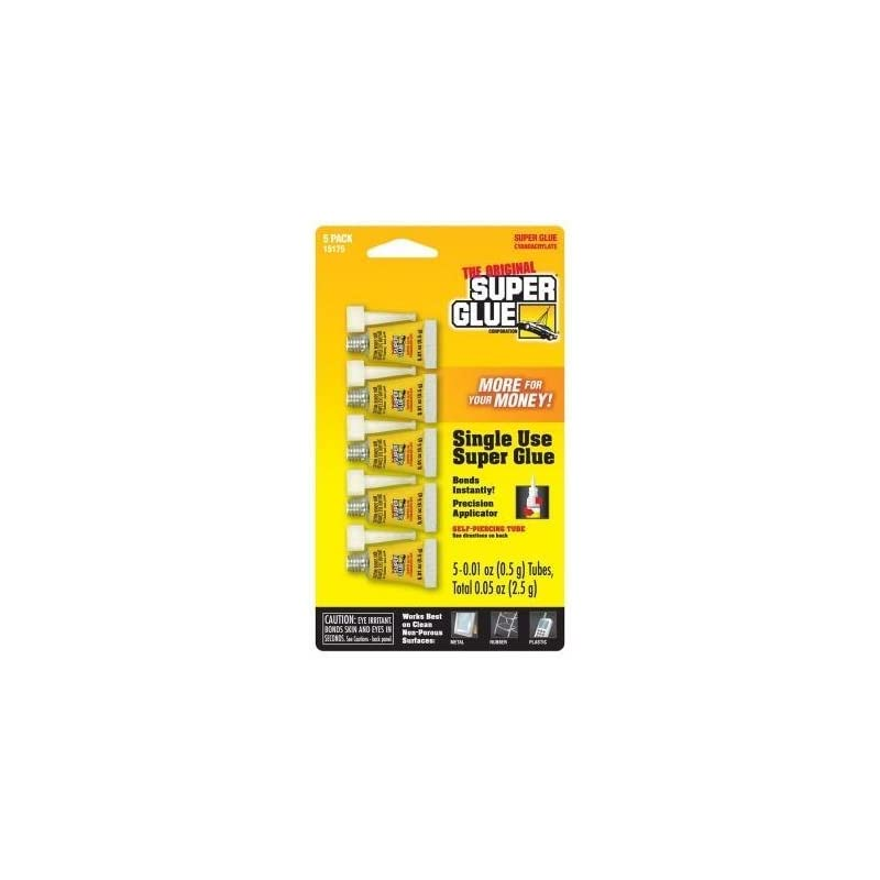 Super Glue 15175 Mini Single Use Tubes 5