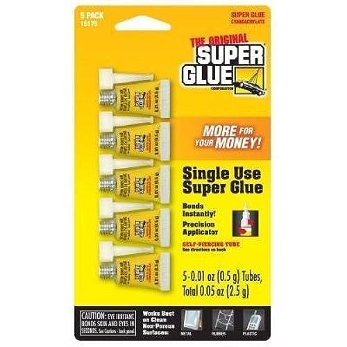 1 Pack of 5 Single Use Super Glue