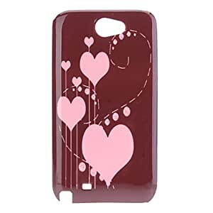 Pink Heart Pattern Hard Case for Samsung Galaxy Note 2 N7100