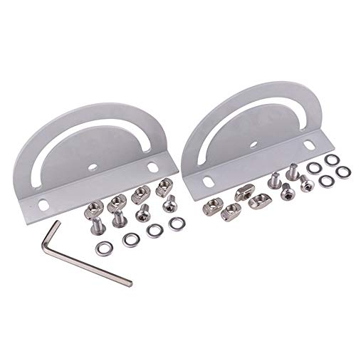 Boeray 2 Pack Steering Connecting Plate for Aluminum Extrusion 3030 Series Include 2 Plate + 8 Screws(m6x10mm) + Package Include: 2 Plate + 8 Screws + 8 t nut + 8 t nut + 4 Washer + 1 Allen Wrench