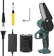 Adaskala Mini serra de poda elétrica portátil de 21V Ferramenta de corte de madeira pequena recarregável para