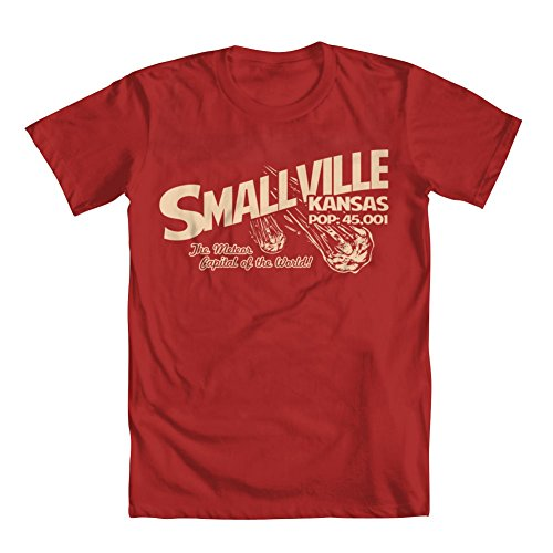 GEEK TEEZ Smallville Kansas Men's T-Shirt Red Medium