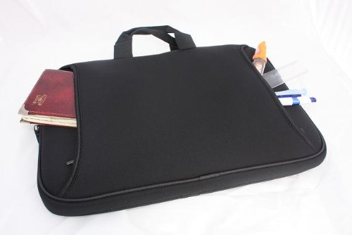 duronic-154-black-neoprene-widescreen-laptop-sleeve-bag-with-carry-handle