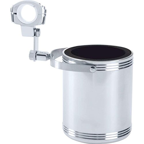 (Diamond Plate Large Stainless Steel Motorcycle Cup)