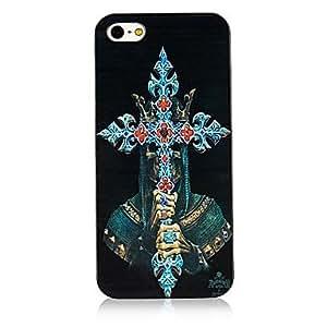 TOPMM Christian Cross Pattern Black Frame Back Case for iPhone 5/5S