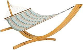 product image for Hatteras Hammocks Gateway Mist Sunbrella Pillowtop Hammock with Free Extension Chains & Tree Hooks, Handcrafted in The USA, Accommodates 2 People, 450 LB Weight Capacity, 13 ft. x 55 in.
